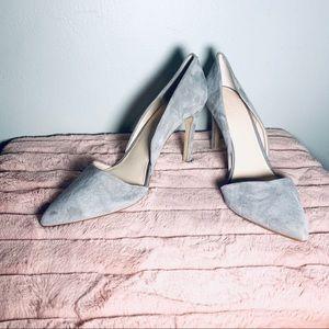 Banana Republic gray suede d'orsay heel size 9.5